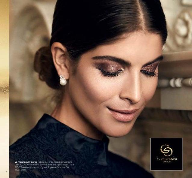 14 Le mannequin porte: Palette de Fard à Paupières Giordani Gold 32076 Divine Brown, Fond de teint anti-âge Giordani Gold ...
