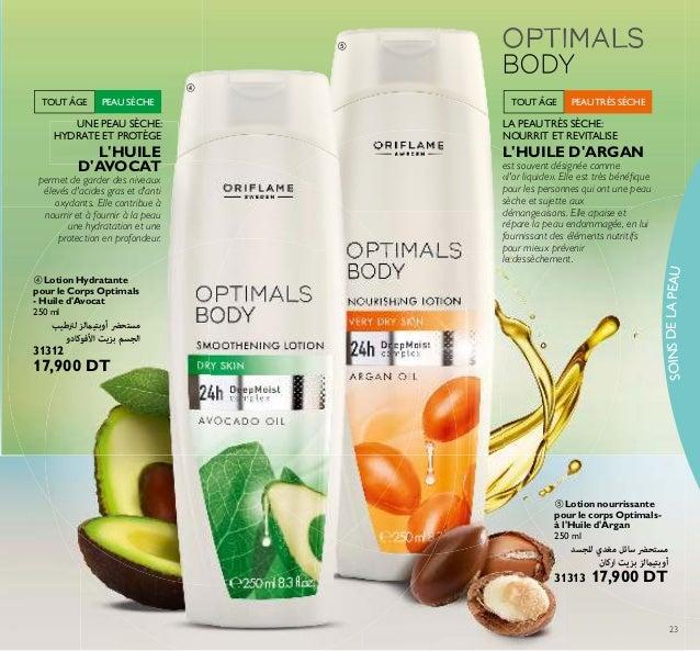 SOINSDELAPEAU 23 ቦ Lotion nourrissante pour le corps Optimals- à l'Huile d'Argan 250 ml ﻟﻠﺠﺴﺪ ﻣﻐﺪي ﺳﺎﺋﻞ ﻣﺴﺘﺤﴬ ارﻛ...