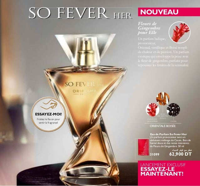 7 ESSAYEZ-MOI! Frottez le flacon pour sentir la fragrance! Eau de Parfum So Fever Her Un parfum provocateur avec un séduisa...