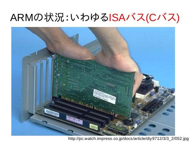 ARMの状況:いわゆるISAバス(Cバス) http://pc.watch.impress.co.jp/docs/article/diy9712/3/3_2/052.jpg