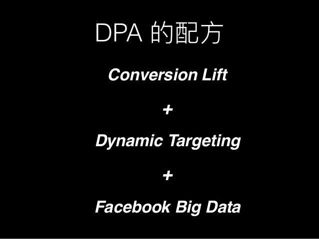 DPA Conversion Lift + Dynamic Targeting + Facebook Big Data