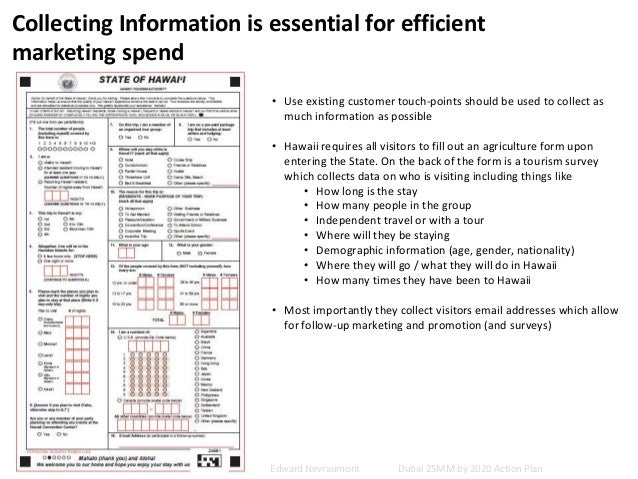 Collecting Information is essential for efficient marketing spend • Use existing customer touch-points should be used to c...