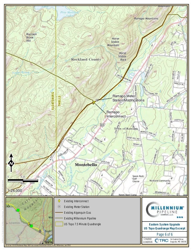Millennium Pipeline PreFiling For Eastern System Upgrade Project - Map of existing us pipelines