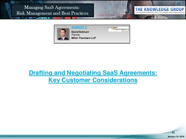 Managing SaaS Agreements: Risk Management and Best Practices