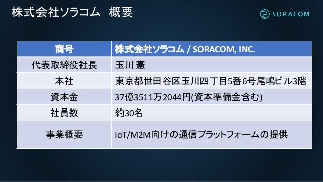 IoT通信プラットフォーム SORACOM 説明資料 Slide 2