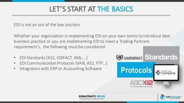 EDI 101 - All you need to know about EDI | B2BGateway Webinar