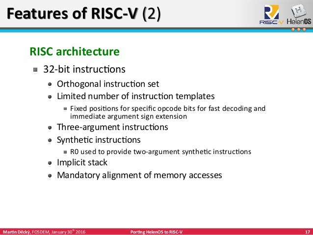 Porting helenos to risc v for Risc v architecture