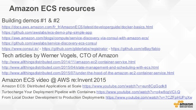 Amazon ecs march 2016 for Consul aws ecs