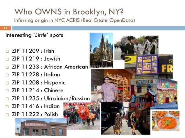 Who OWNS in Brooklyn, NY? Inferring origin in NYC ACRIS (Real Estate OpenData) 15 Interesting 'Little' spots  ZIP 11209 :...