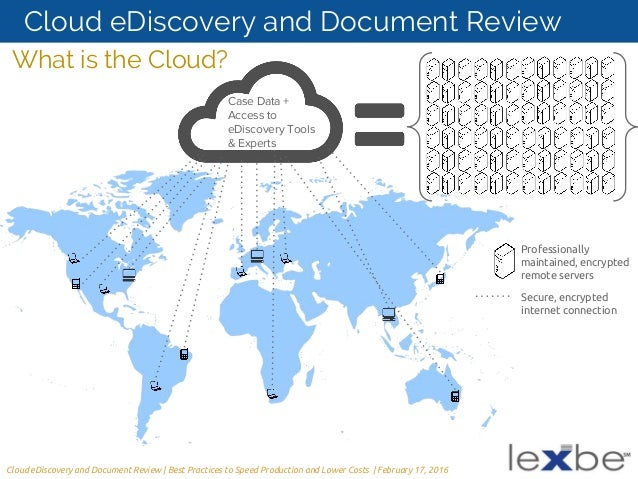 A Litigators Guide To CloudBased EDiscovery And Document Review - Ediscovery data map