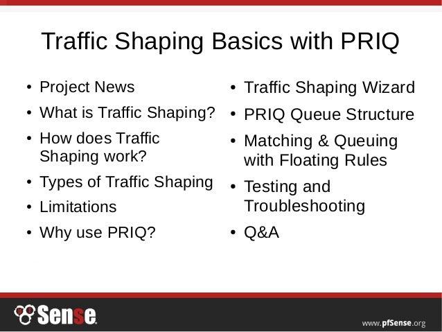 Traffic Shaping Basics with PRIQ - pfSense Hangout February 2016