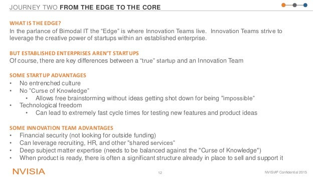 """JOURNEY TWO FROM THE EDGE TO THE CORE NVISIA® Confidential 201512 WHAT IS THE EDGE? In the parlance of Bimodal IT the """"Edg..."""