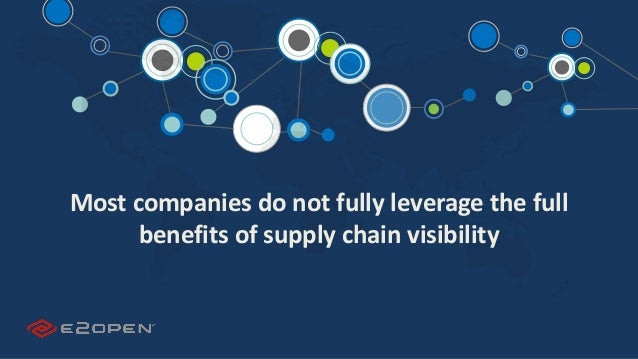 E2OPEN CONFIDENTIAL | © 2016 E2open 10 Most companies do not fully leverage the full benefits of supply chain visibility
