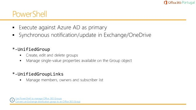 Office 365 Groups Deep Dive