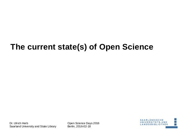 The Current State Of Scientific >> The Current State S Of Open Science