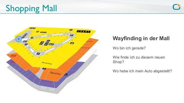 Shopping Mall Wayfinding in der Mall Wo bin ich gerade? Wie finde ich zu diesem neuen Shop? Wo habe ich mein Auto abgestel...