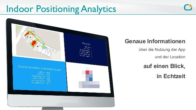 Indoor Positioning Analytics Genaue Informationen über die Nutzung der App und der Location auf einen Blick, in Echtzeit