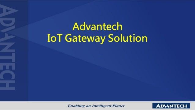 Advantech IoT Gateway Solution