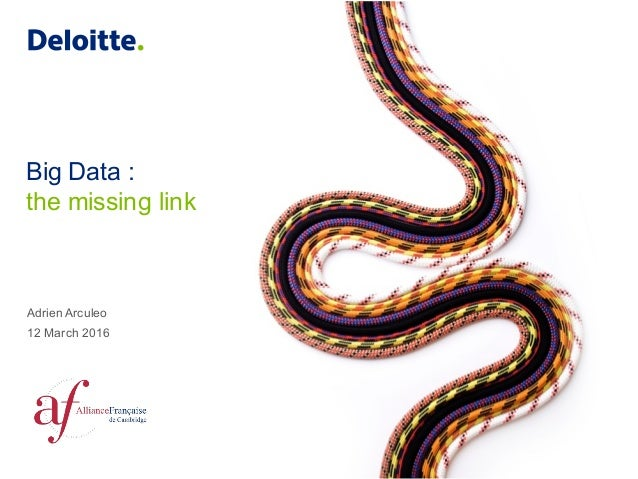 Big Data : the missing link Adrien Arculeo 12 March 2016