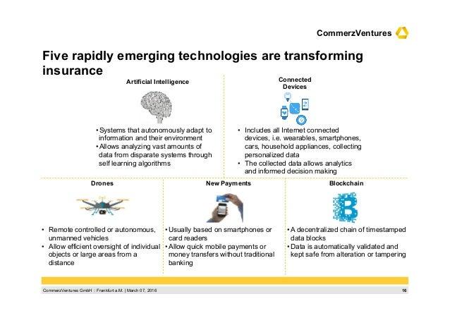 16CommerzVentures GmbH  Frankfurt a.M.   March 07, 2016 CommerzVentures Five rapidly emerging technologies are transformi...