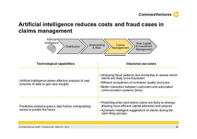 22CommerzVentures GmbH  Frankfurt a.M.   March 07, 2016 CommerzVentures Artificial intelligence reduces costs and fraud c...