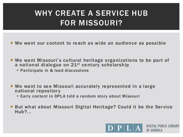 Building the Missouri Hub for DPLA