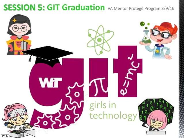 SESSION 5: GIT Graduation VA Mentor Protégé Program 3/9/16