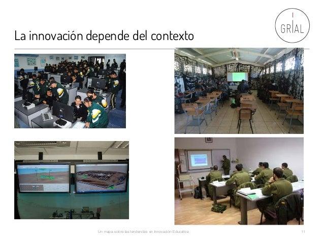La innovación depende del contexto Un mapa sobre las tendencias en Innovación Educativa 11