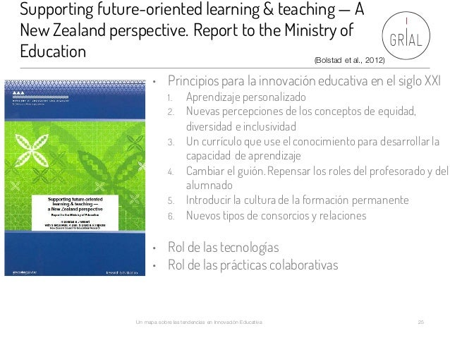 Supporting future-oriented learning & teaching — A New Zealand perspective. Report to the Ministry of Education Un mapa so...