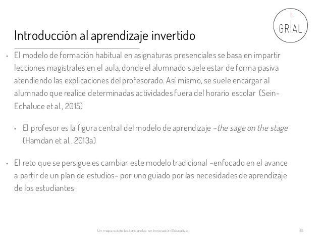 Introducción al aprendizaje invertido • El modelo de formación habitual en asignaturas presenciales se basa en impartir le...