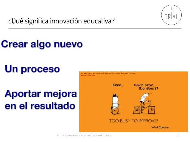 ¿Qué significa innovación educativa? Un mapa sobre las tendencias en Innovación Educativa 6 Too Busy To Improve - Performa...