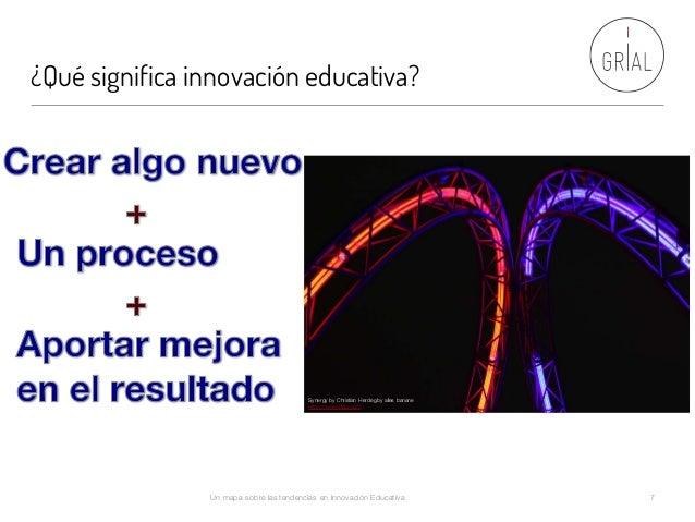 ¿Qué significa innovación educativa? Un mapa sobre las tendencias en Innovación Educativa 7 Synergy by Christian Herdeg by...