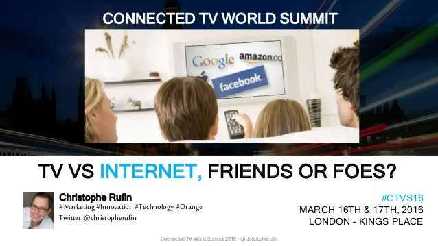 1 Connected TV World Summit 2016 - @christopherufin Christophe Rufin #Marketing #Innovation #Technology #Orange Twitter: @...