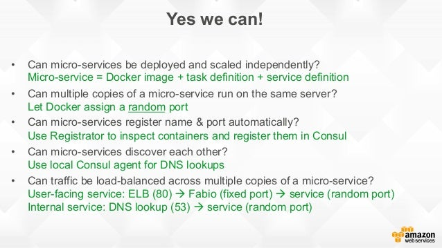 Docker on aws with amazon ecr ecs pop up loft tel aviv for Docker consul dns