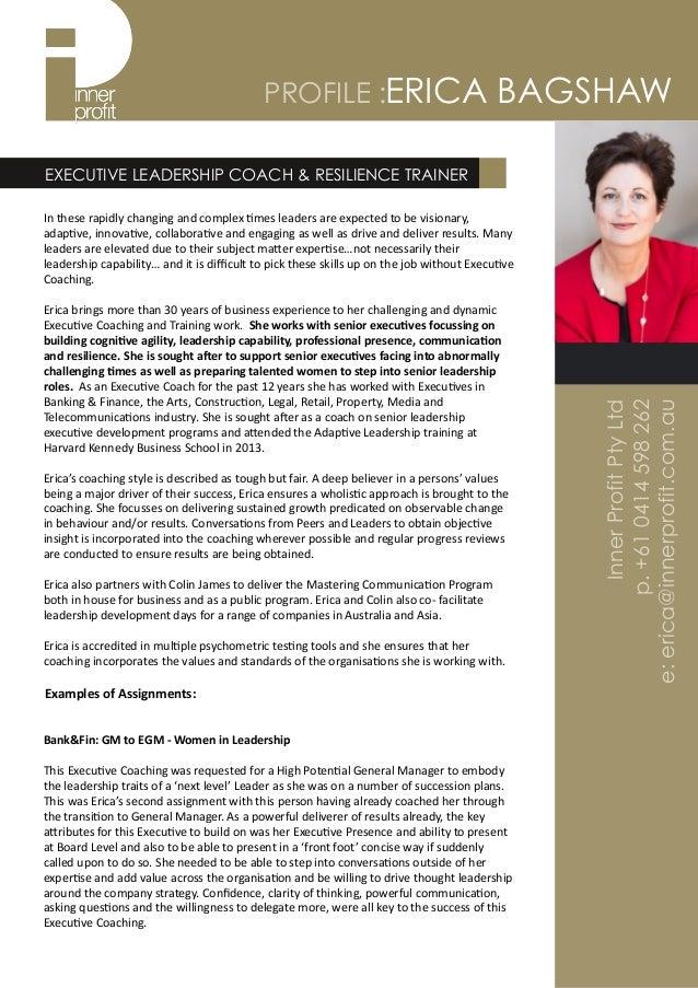 executive coach profile erica bagshaw 2016