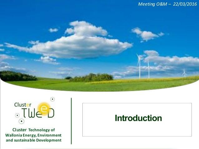 Maintenance des technologies renouvelables - Event TWEED & Maintenance Partners Slide 3