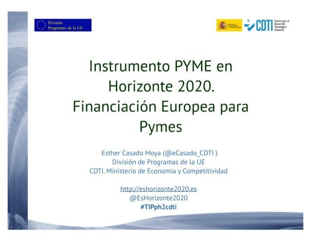 20160329 y 30 Instrumento PYME en Canarias