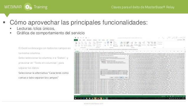 => Se deben solicitar las credenciales a Customer Service: soporte@corp.masterbase.com o en http://www.es.masterbase.com/c...