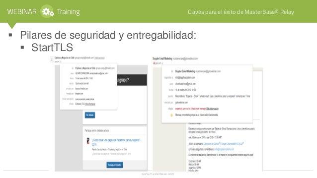 www.masterbase.com Claves para el éxito de MasterBase® Relay • Pilares de seguridad y entregabilidad: MasterBase® Token.
