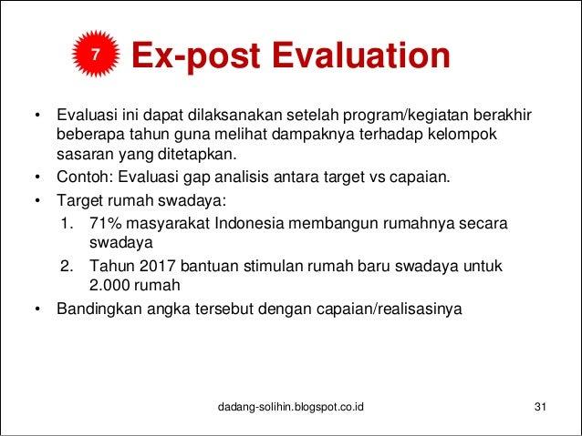 Manajemen Pedoman Monitoring Dan Evaluasi Dalam Kegiatan Perumahan Sw