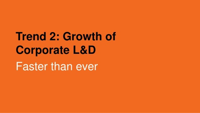 Trend 2: Growth of Corporate L&D Faster than ever
