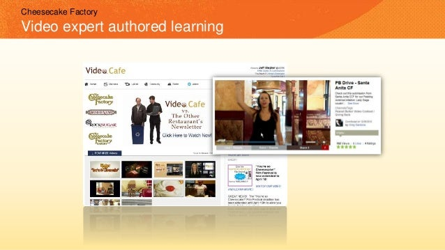 Cheesecake Factory Video expert authored learning