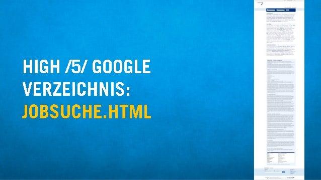 HIGH /5/ GOOGLE VERZEICHNIS:  JOBSUCHE. HTML