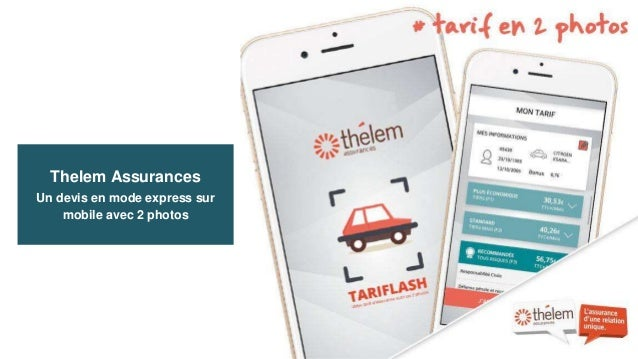Thelem Assurances Un devis en mode express sur mobile avec 2 photos