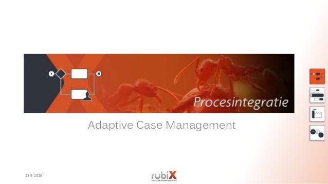 Adaptive Case Management 15-9-2016