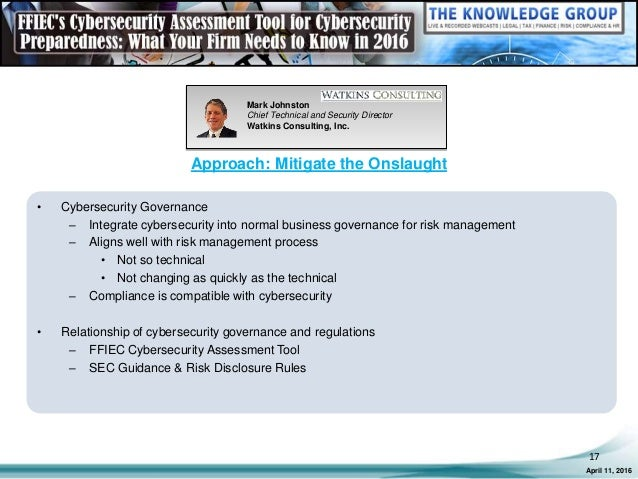 ffiec's cybersecurity assessment tool: what your firm needs to know i…