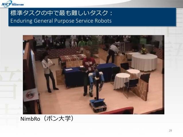 標準タスクの中で最も難しいタスク: Enduring General Purpose Service Robots 29 NimbRo(ボン大学)