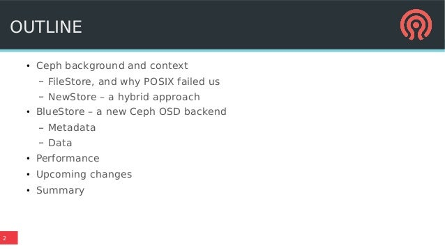 BlueStore: a new, faster storage backend for Ceph