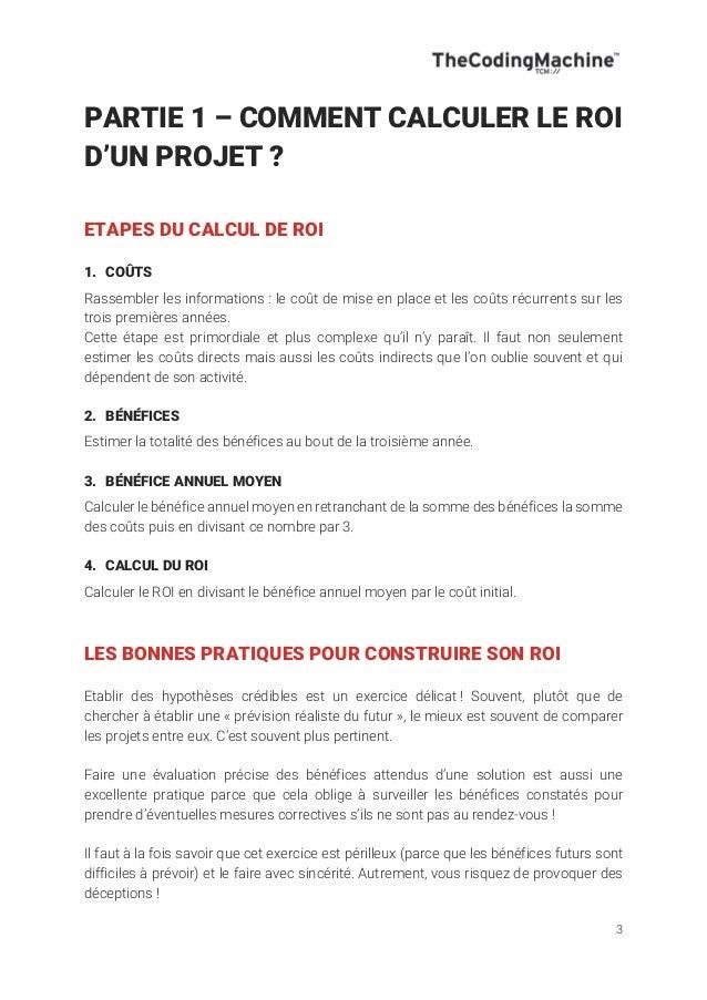 ROI - Calculer le Retour sur Investissement d'un projet Slide 3