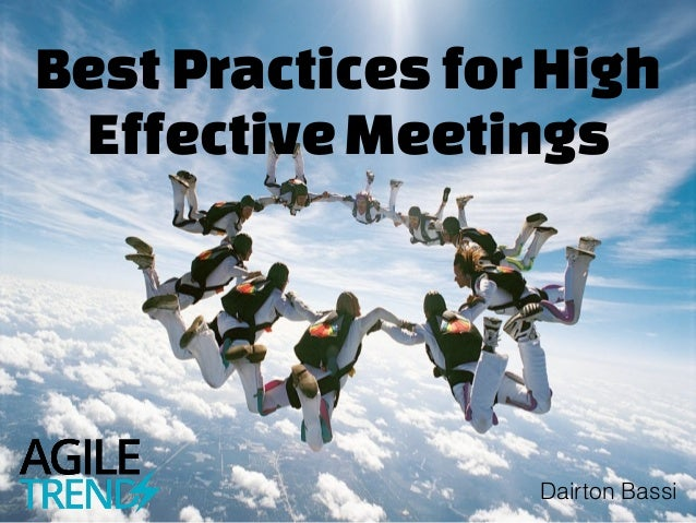 BestPracticesforHigh EffectiveMeetings Dairton Bassi
